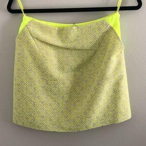 Neon Green Ted Baker Mini Skirt - Size 0